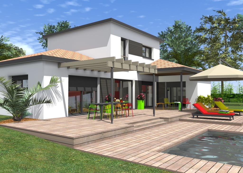 FLHomeplan - Maison contemporaine à étage
