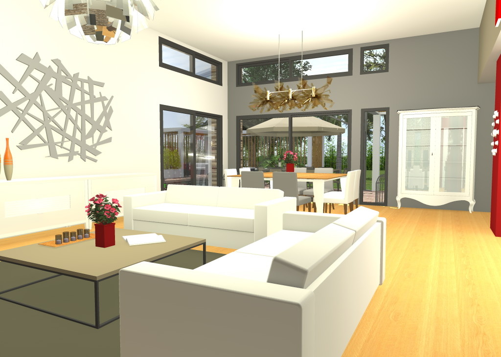 flhomeplan maison individuelle moderne. Black Bedroom Furniture Sets. Home Design Ideas